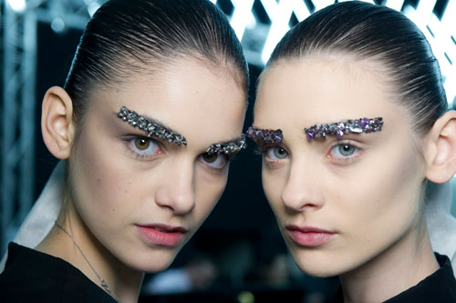 Backstage-Beauty-at-Chanel_s-Autumn-Winter-2012-Show-Bejewelled-Eyebrows-and-Sleek-Ponytails-1
